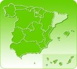 Mapa Cataluña, España